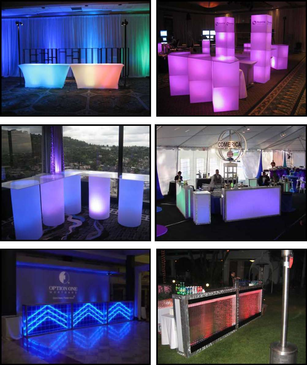 audio video & lighting - glowing barfronts