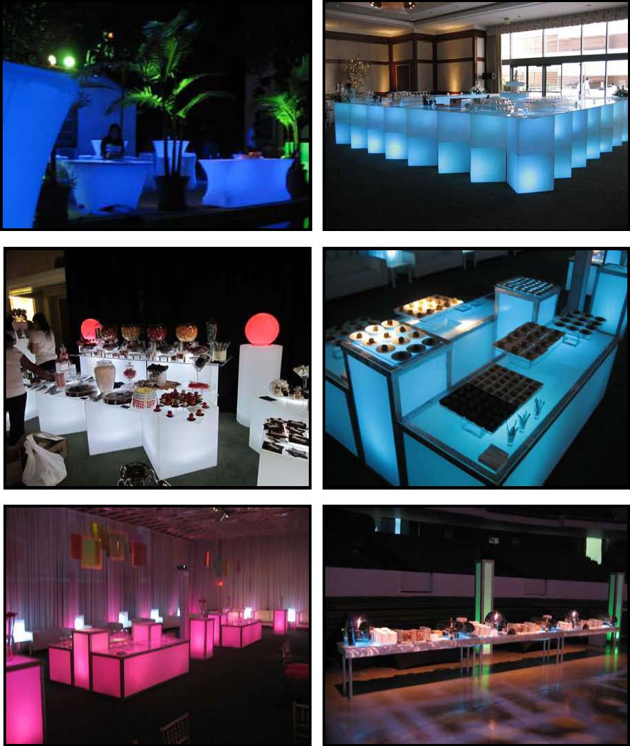 audio video & lighting - glowing buffets