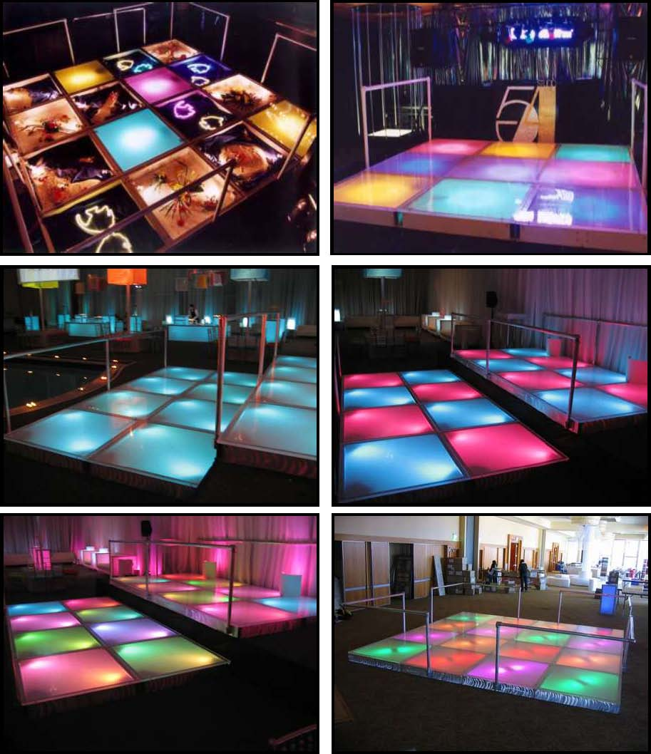 audio video & lighting - glowing dance floors