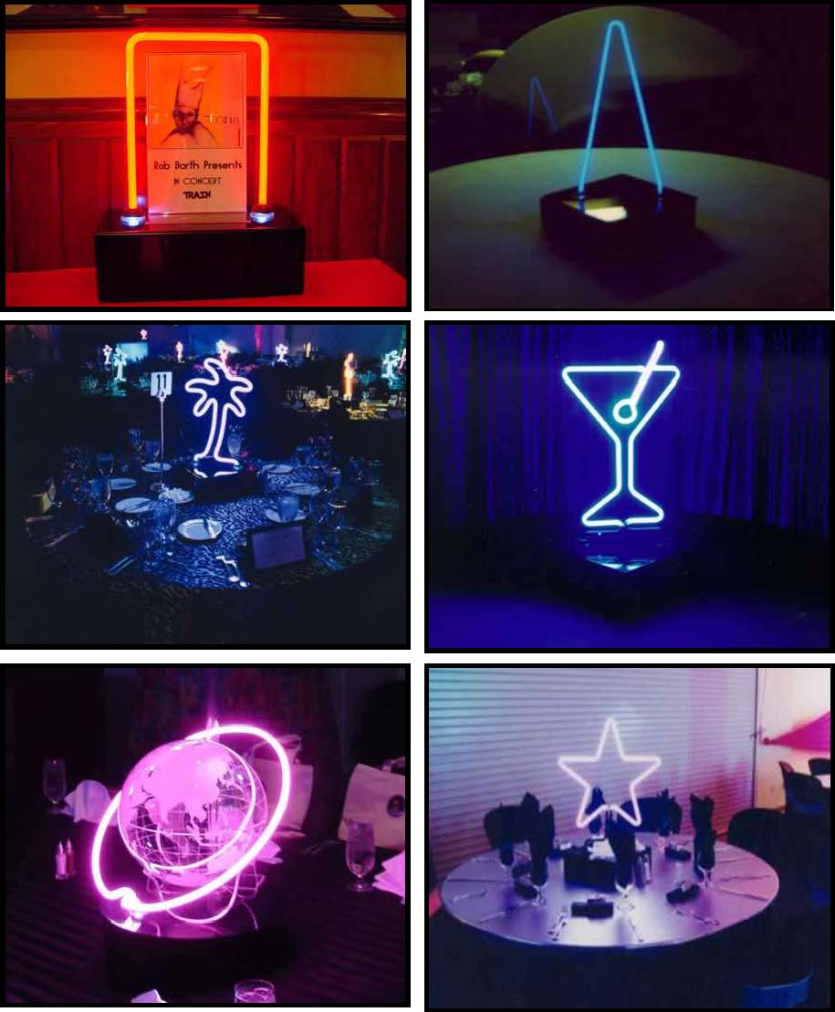 audio video & lighting - neon centerpieces