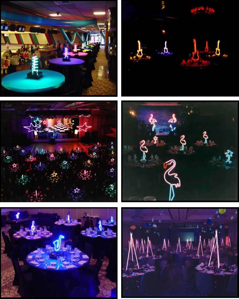 audio video & lighting - centerpieces neon