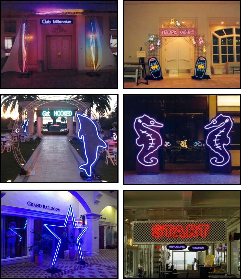 audio video & lighting - neon entryways