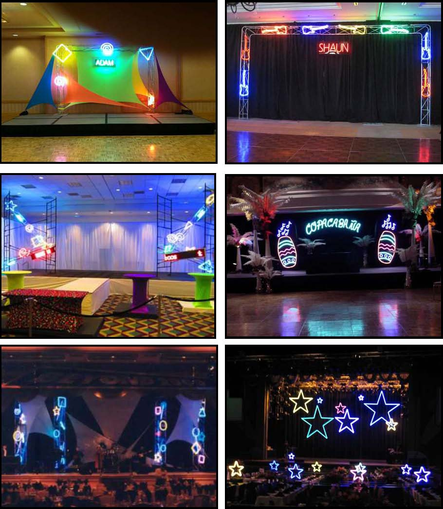 audio video & lighting - neon stage lights