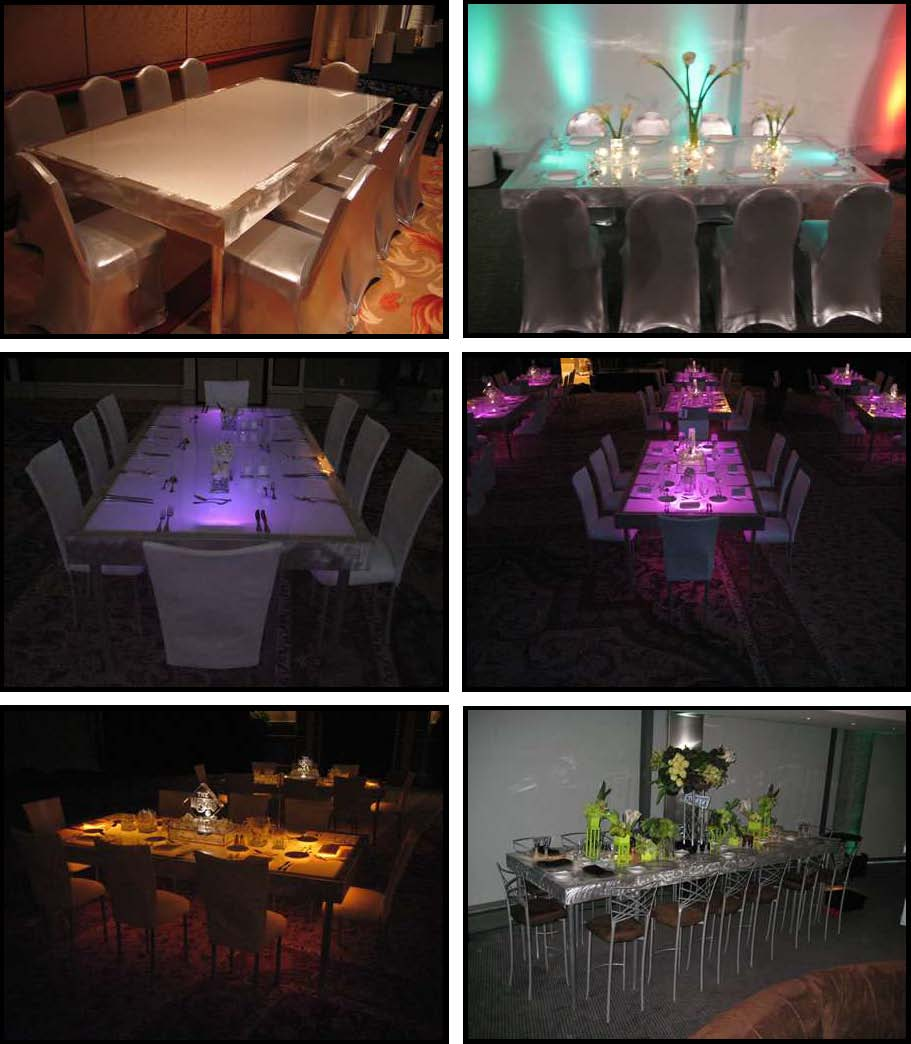 Illuminated Leds For Absolutely Fabulous Events And Productions 10 Dancing Dinner Tables 4 Ft X 8