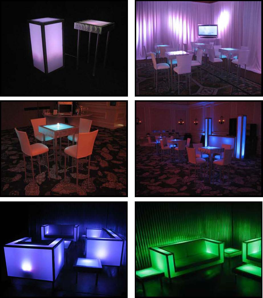 Illuminated Leds For Absolutely Fabulous Events And Productions 10 Dancing Led Tables 2 Ft X