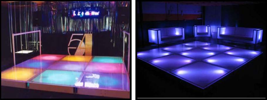 Dance Floor illuminated with leds
