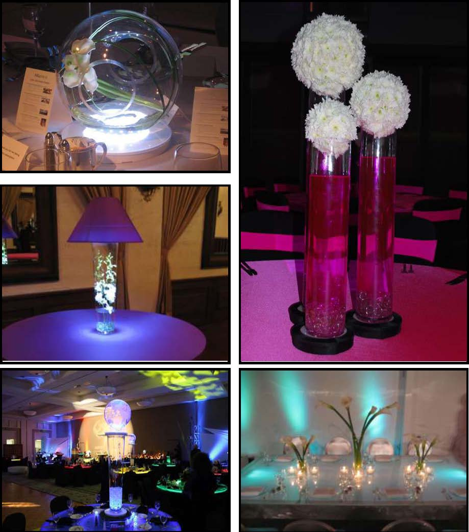 Props & Products Centerpieces – Glass