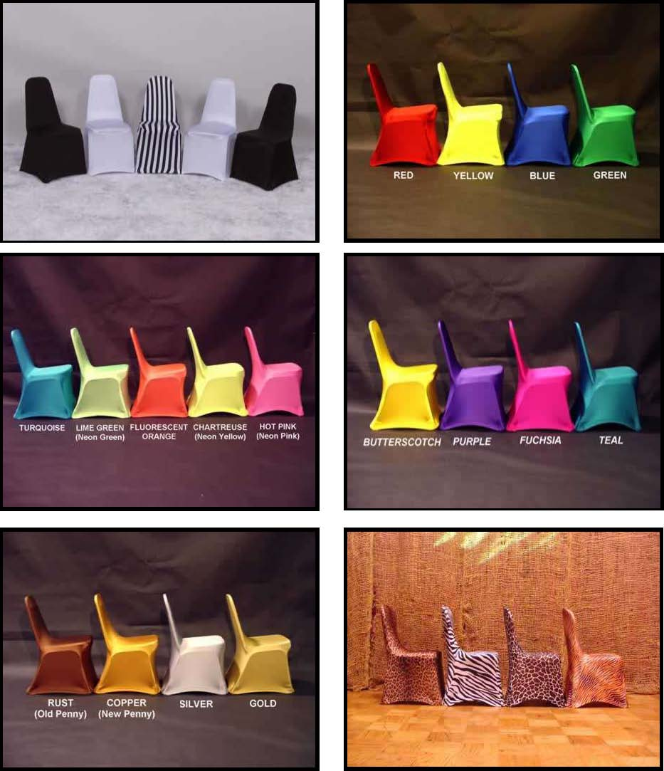 Perfect Chair Covers   Neon